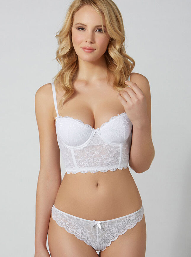 Chloe lace longline bra