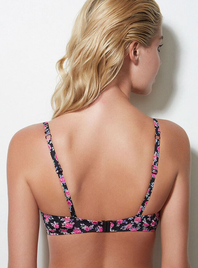 Florence floral bikini top