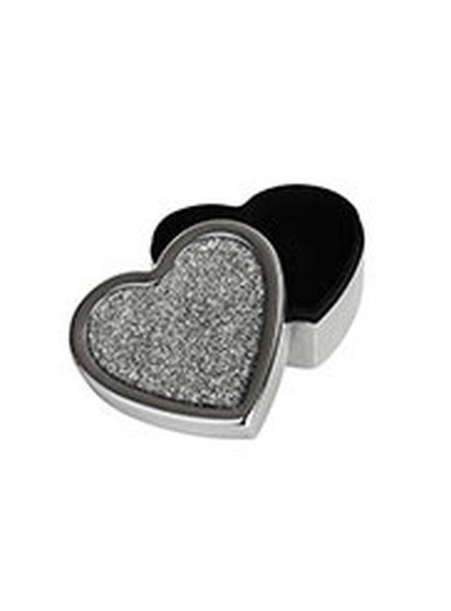 Glitter heart shaped trinket box