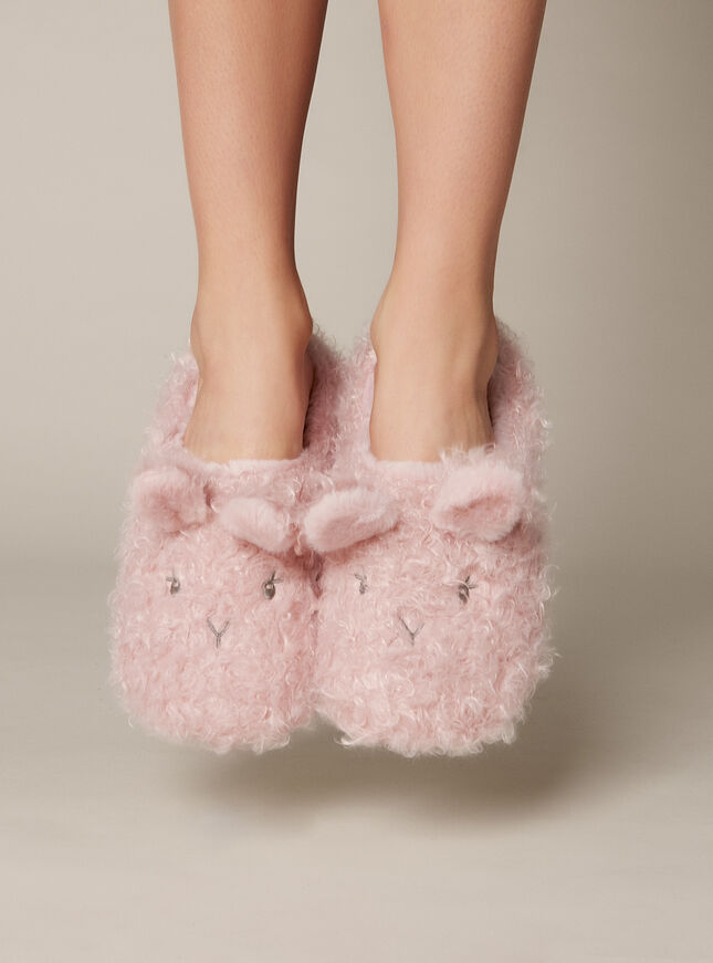 Pink Fluffy Bunny Mule
