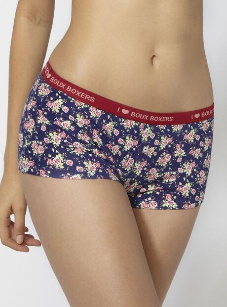 Floral boy shorts