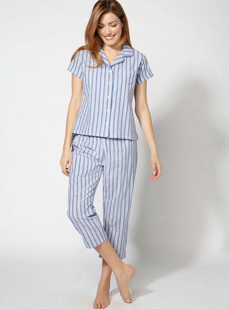 Hamptons cropped pyjamas