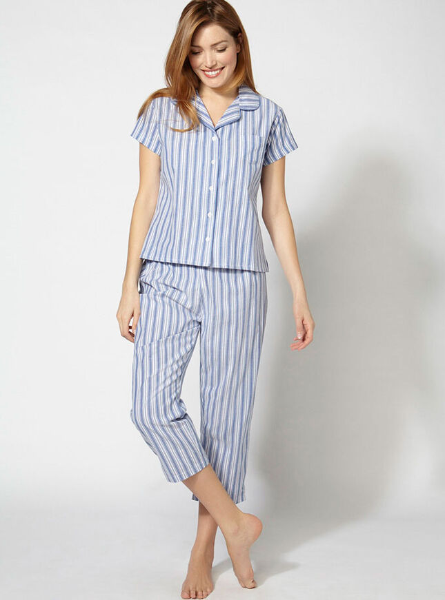 Hamptons cropped pyjamas