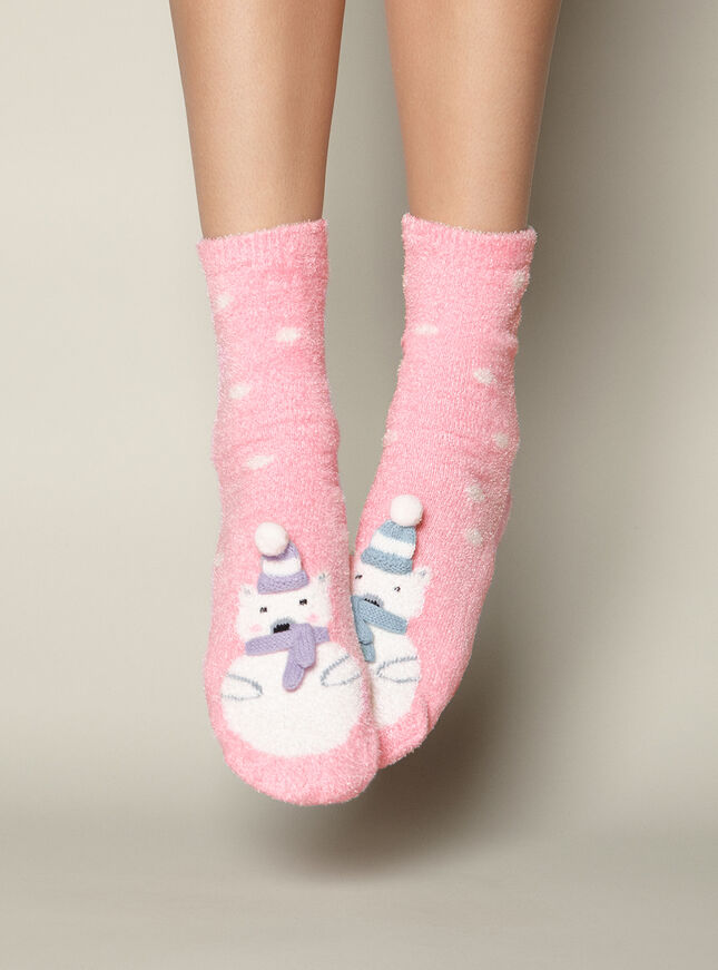 Mr & Mrs polar bear socks