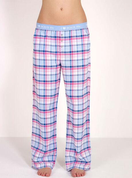 Boux checked pyjama pants