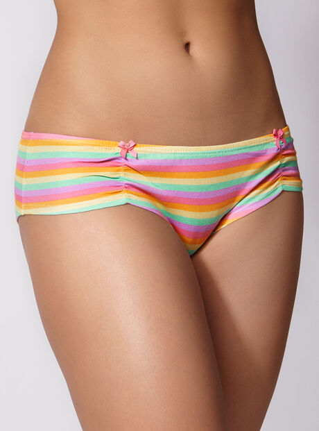 Rainbow ruched shorts