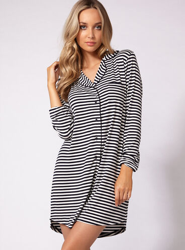 Jersey stripey nightshirt