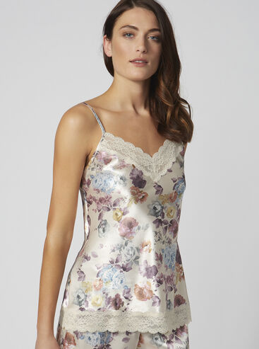 Blush rose floral camisole
