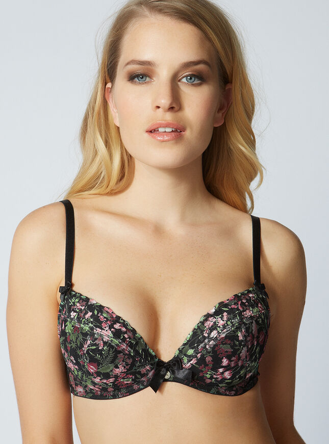 Bettie floral plunge bra