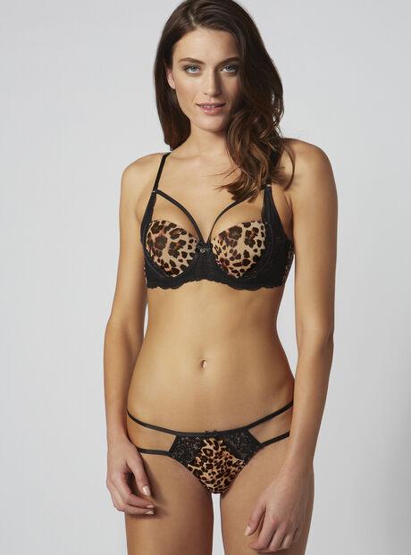 Mariette leopard thong