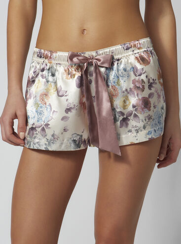 Blush rose floral shorts