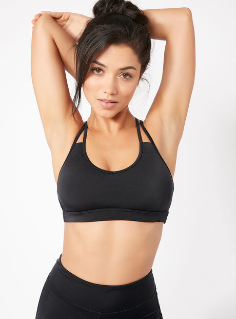 Activewear strappy crop top