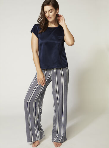 Luxe satin tee and pants set