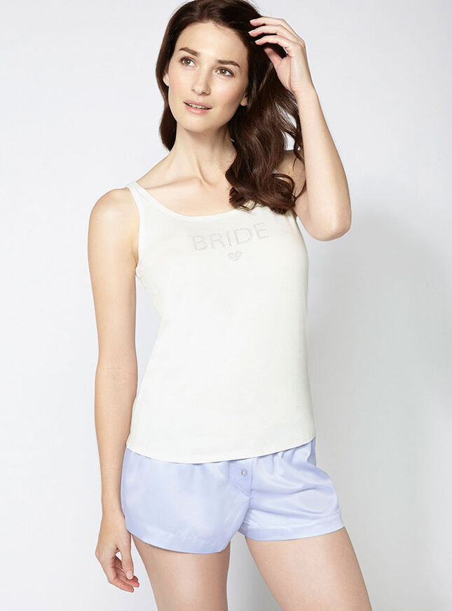 """Bride"" camisole and shorts set"