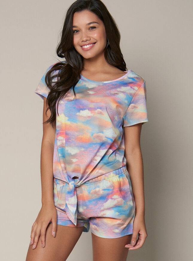 Mystical cloud tee and shorts set