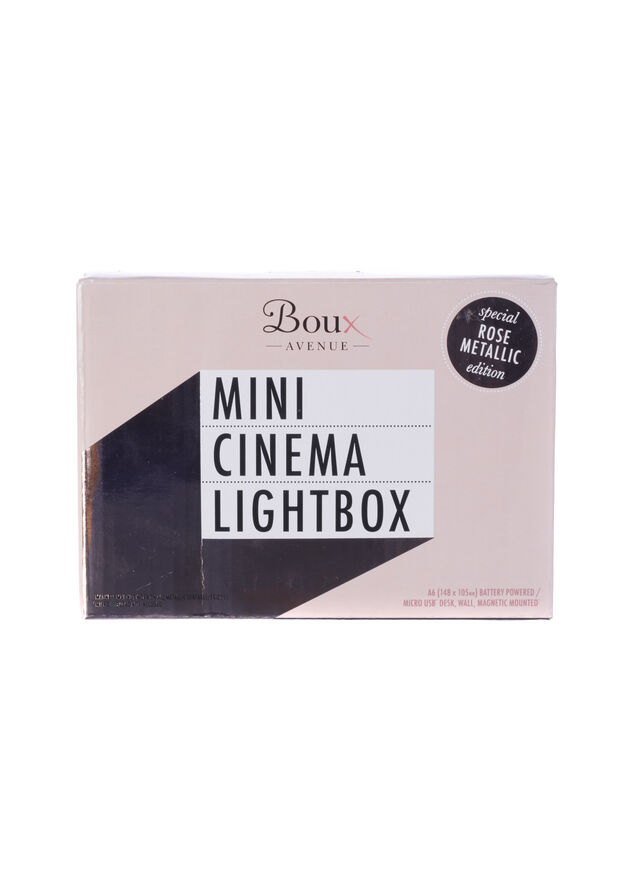 Mini cinema lightbox
