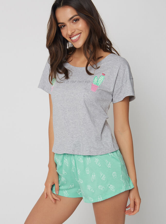 Cactus tee and shorts set