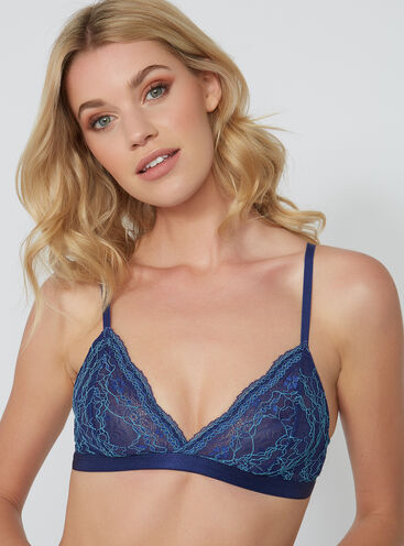 Lucie lace triangle bra