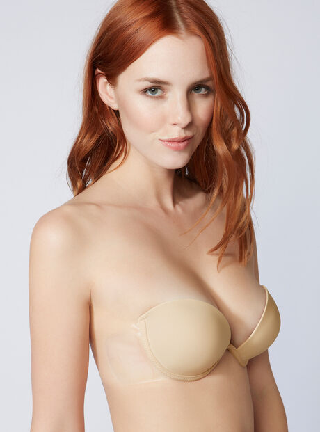 Padded backless strapless bra