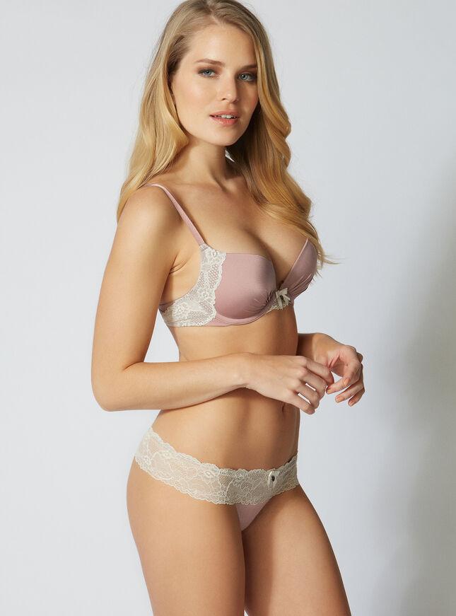 Naomi padded plunge bra