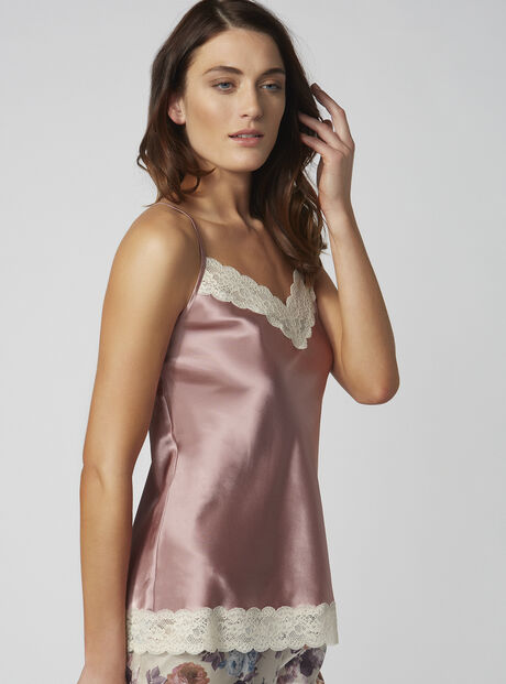 Blush rose satin camisole