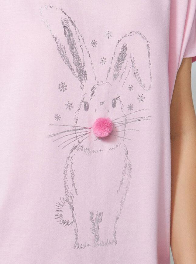 Bunny and fleece pants pyjama set