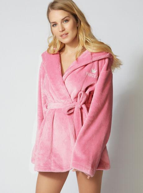 Princess cropped robe