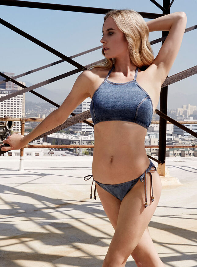 San Francisco crop bikini top