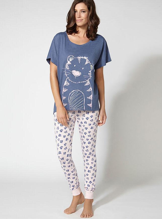 Cheeky tiger pyjama set