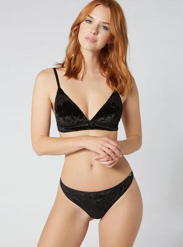 Kayleigh velvet thong