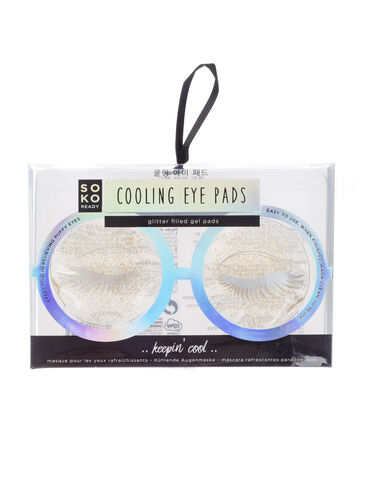 Glitter cooling eye pads