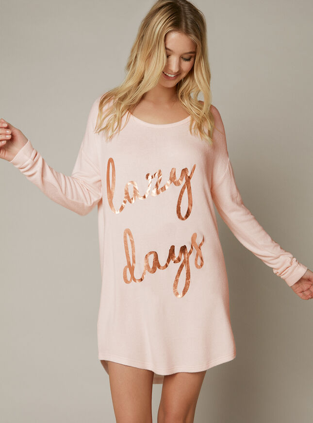 """Lazy days"" sleep tee"