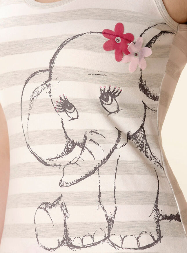 Glitter elephant vest and shorts pyjamas