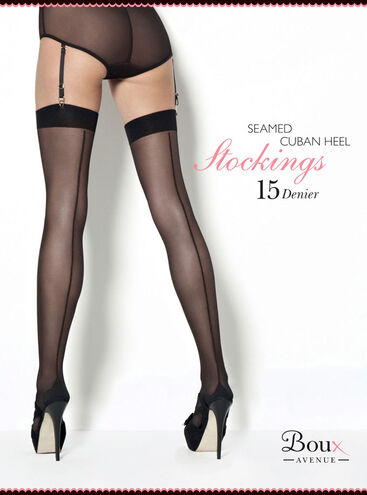 Cuban Heel Plain Top Stocking