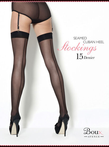 Cuban Heel Plain Top Stocking