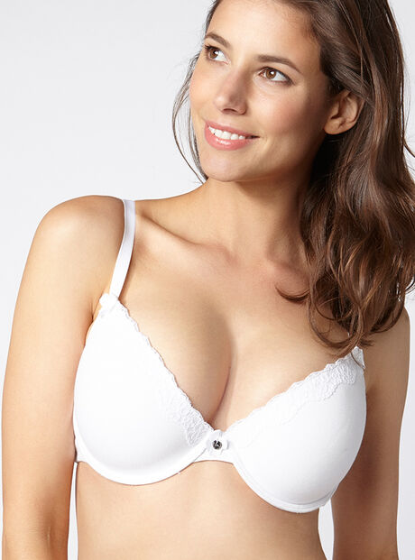 Tatiana cotton plunge T-Shirt bra