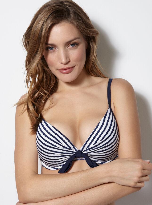 Lauderdale stripe bikini top