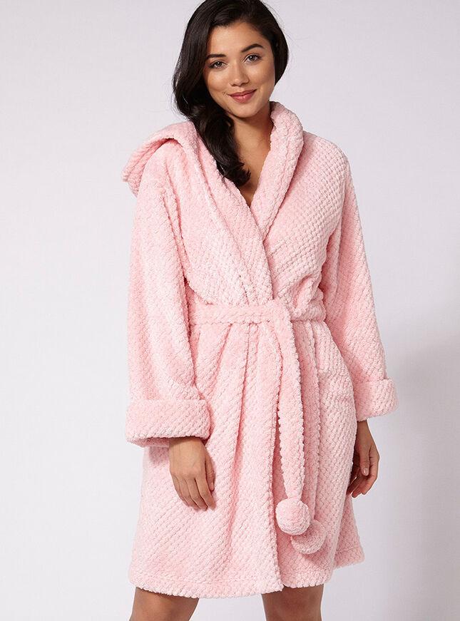 Winnie waffle midi robe