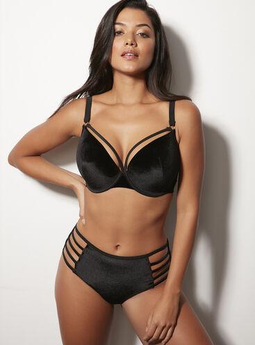 Velvet midi bikini briefs
