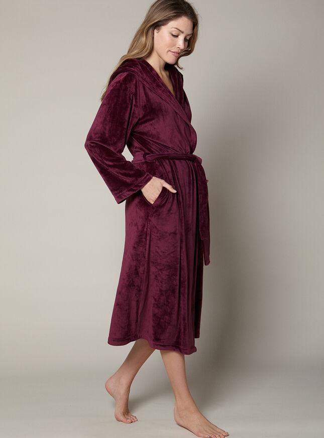 Grace velour robe