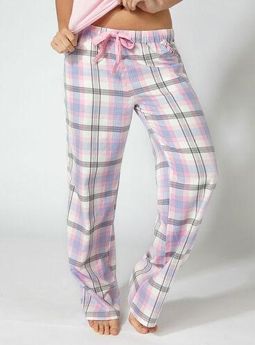 Ice queen check pyjama pants