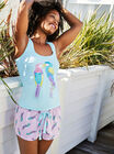Parrot vest and shorts set
