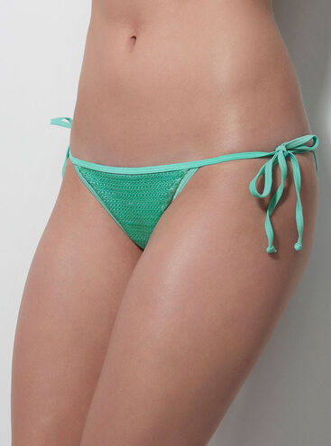 Mermaid sequin bikini briefs