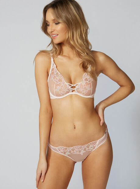 Estelle embroidered thong