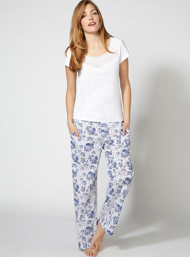 Hamptons tee and pants pyjamas