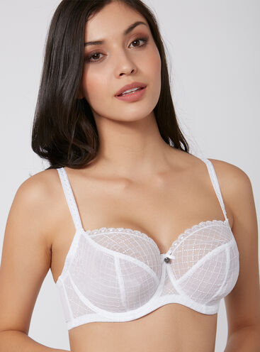 Alarna non-padded full support balconette bra