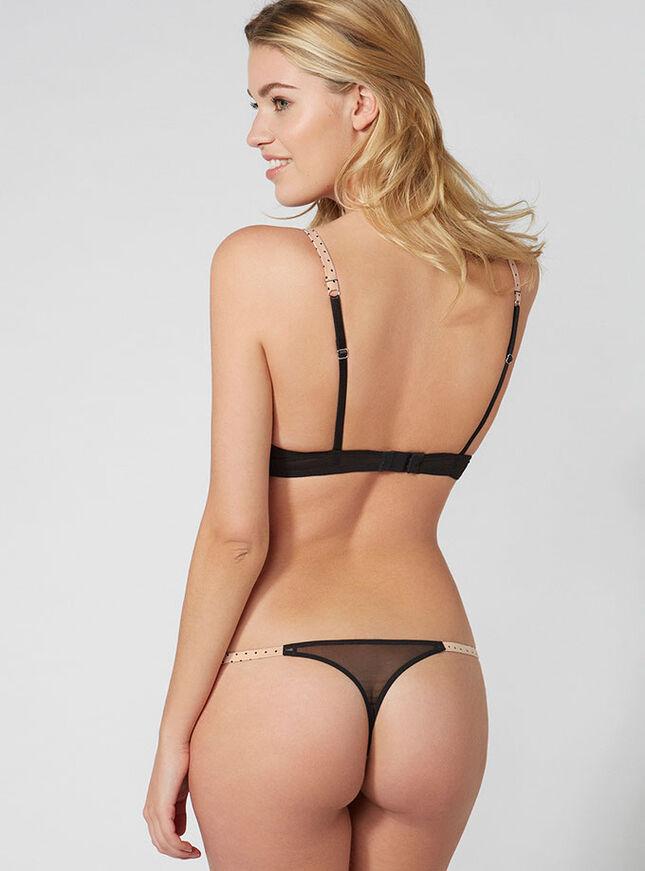 Abigail pin spot plunge bra