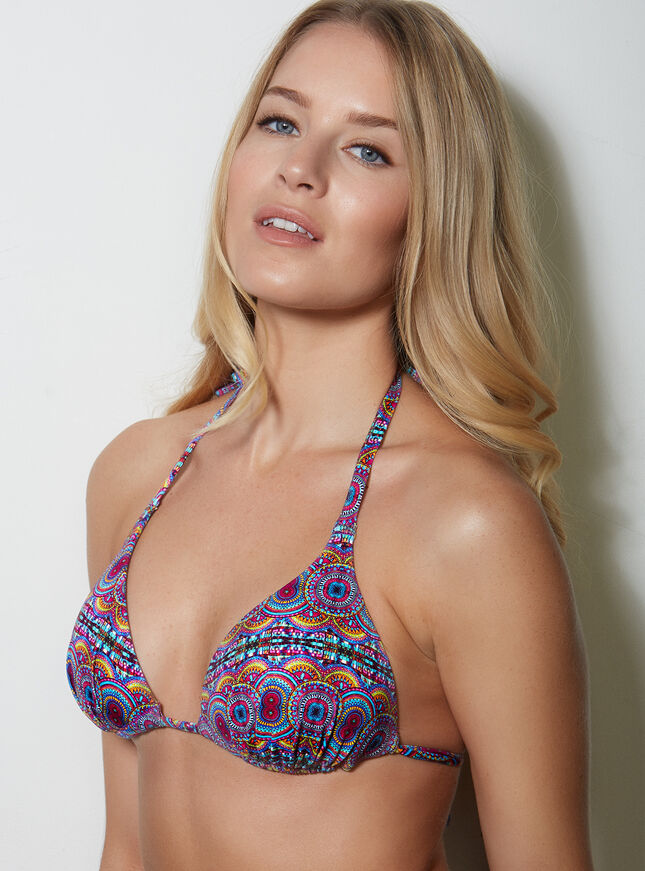 Jewel triangle bikini top