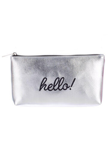 """Hello"" cosmetic bag"