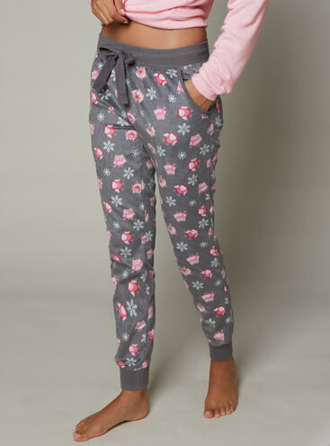 Owl minky fleece pants